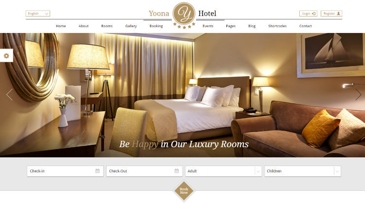 Yoona Hotel Booking WordPress Theme
