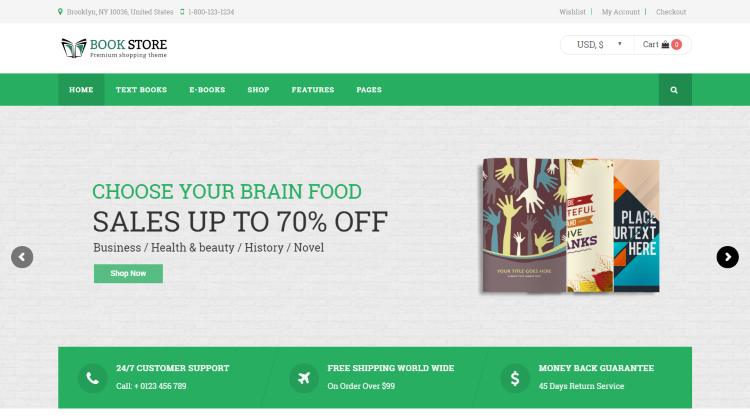 Book Store Bookstore WordPress Theme