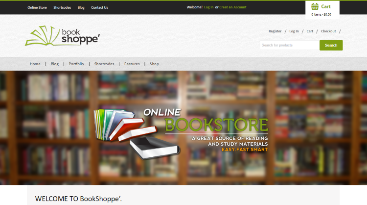 Book Store Responsive Bookstore WordPress Theme