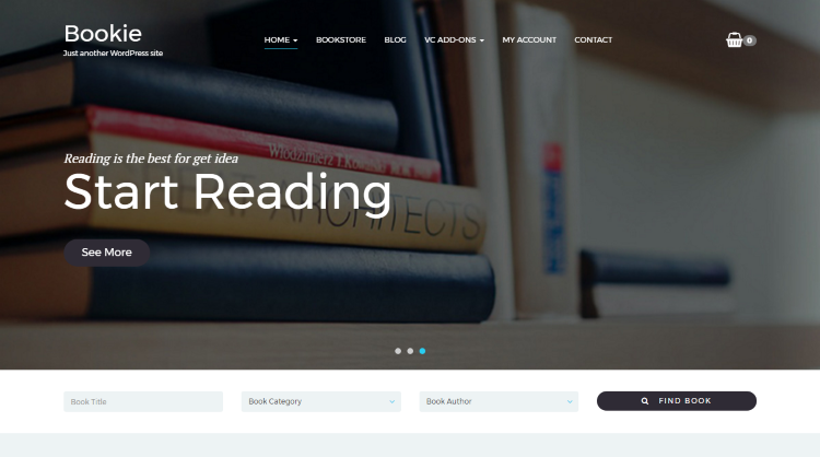 Bookie Bookstore WordPress Theme