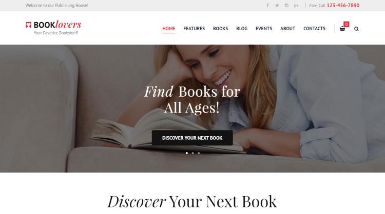 Booklovers Bookstore WordPress Theme