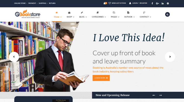 BookStore WP Bookstore WordPress Theme