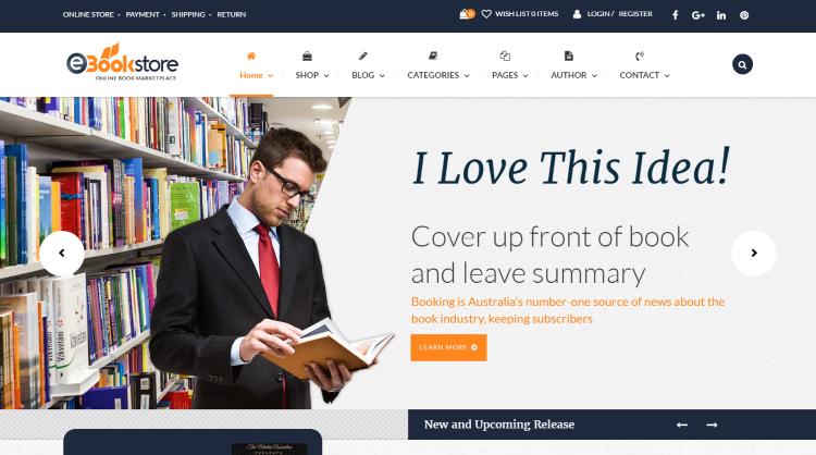 BookStore WP Bookstore WordPress Theme