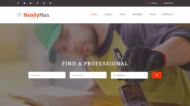 HandyMan Job Board WordPress Theme