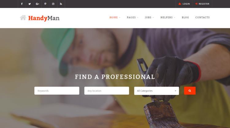 HandyMan Job Board WordPress Theme
