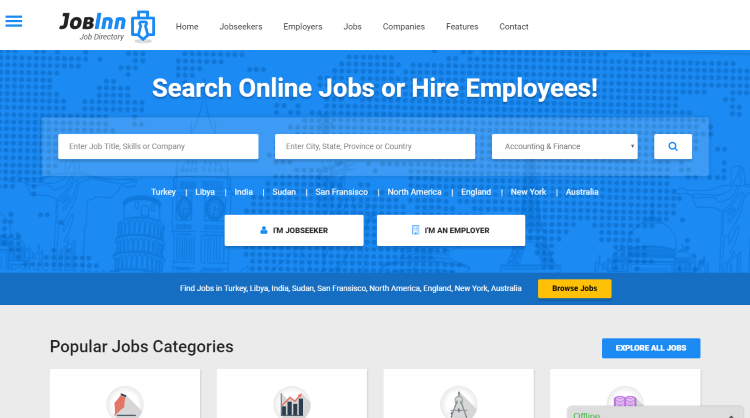 JobInn Job Board WordPress Theme