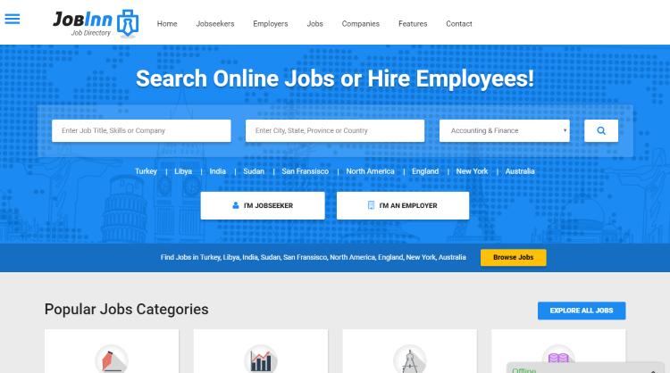 JobInn Job Board WordPress Theme