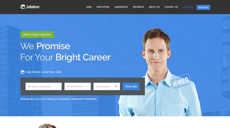 JobCareer Job Board WordPress Theme