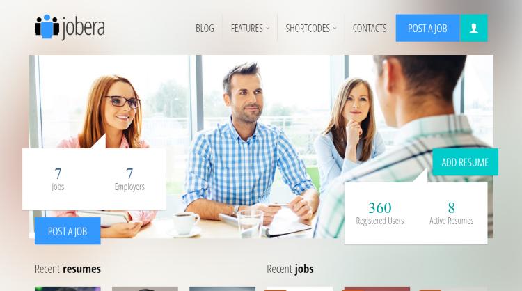 Jobera Job Board WordPress Theme