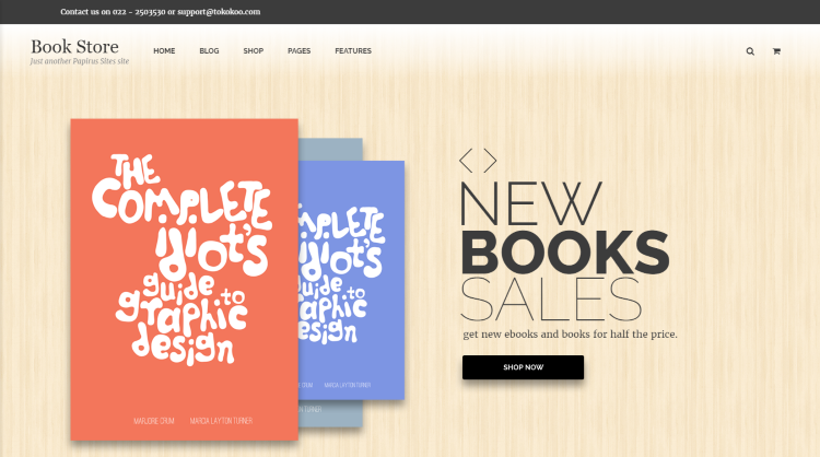Papirus Bookstore WordPress Theme