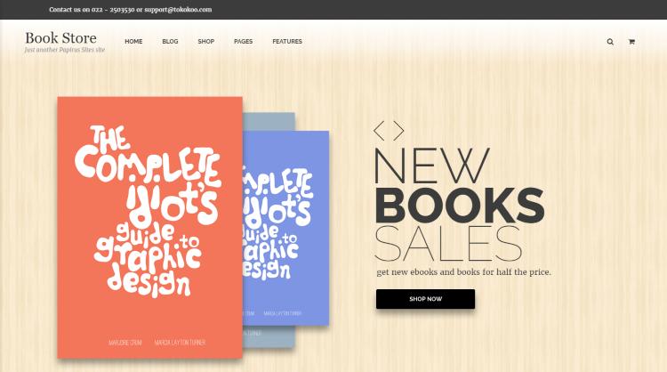 Papirus Bookstore WordPress Theme