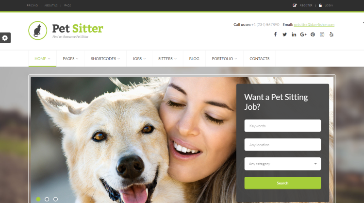 PetSitter Job Board WordPress Theme