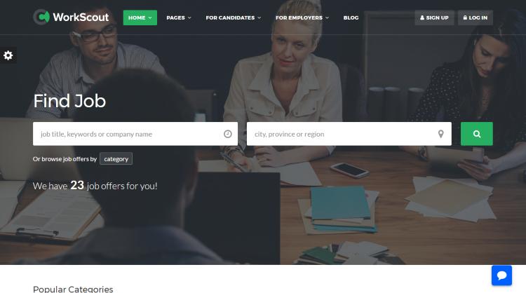 WorkScout Job Board WordPress Theme