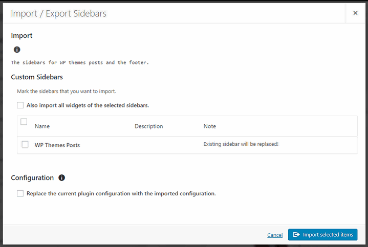 custom-sidebar-import