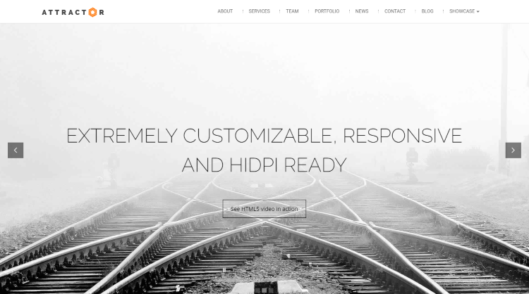 Attractor - Onepage Parallax WordPress theme