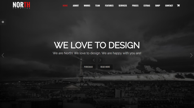 North - One Page WordPress theme