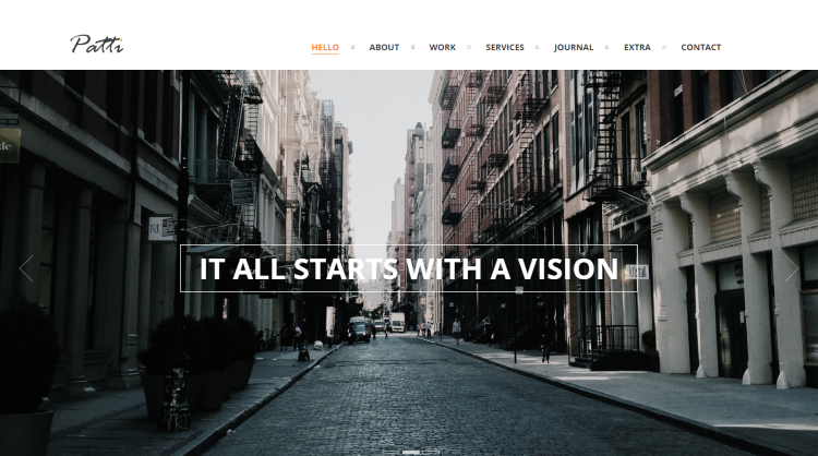 Patti - One-Page Parallax WordPress Theme