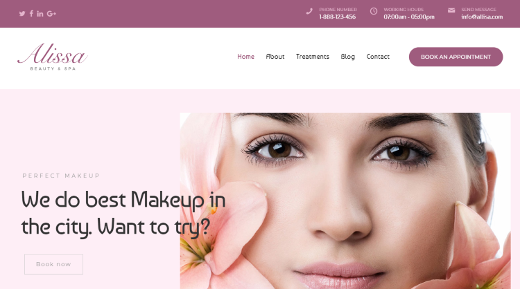 Alissa - Wellness Spa Beauty WordPress Theme