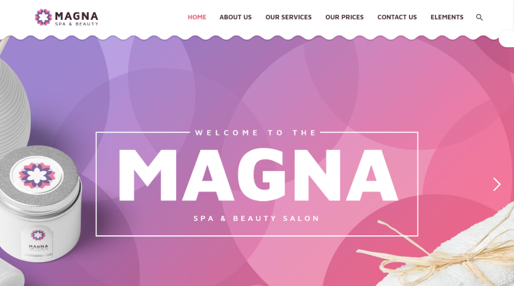 Magna - Beauty Salon Spa WordPress Theme