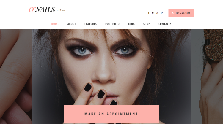 O'Nails - Nail Bar Beauty Salon WordPress Theme