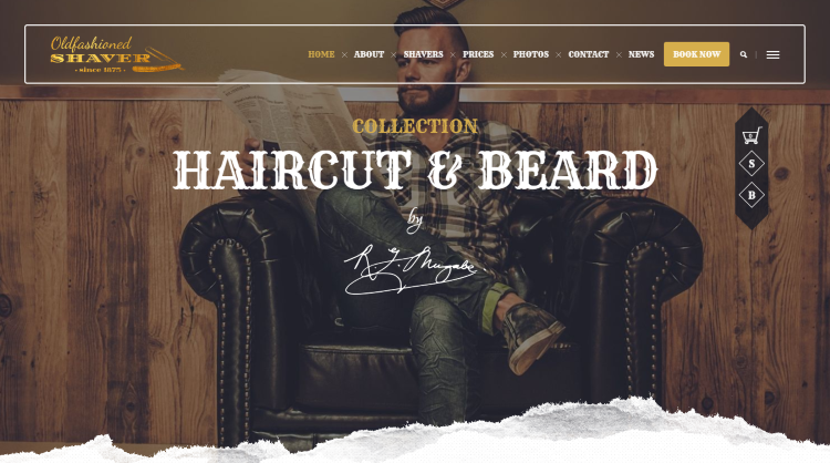 Shaver - Barber Hair Salon WordPress Theme