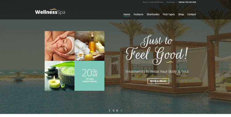 Wellness Spa WordPress Theme