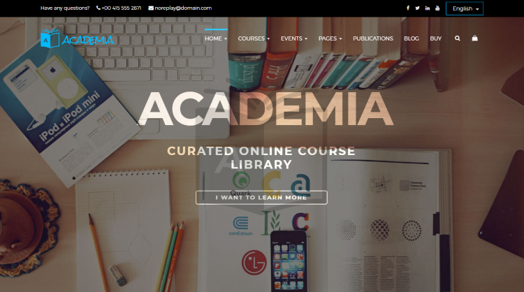 Academia Education WordPress Theme