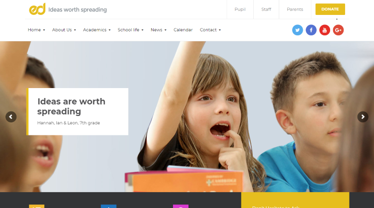 ED School elementary middle and highschool WordPress Theme