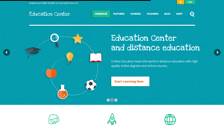 Education Center training courses WordPress Theme