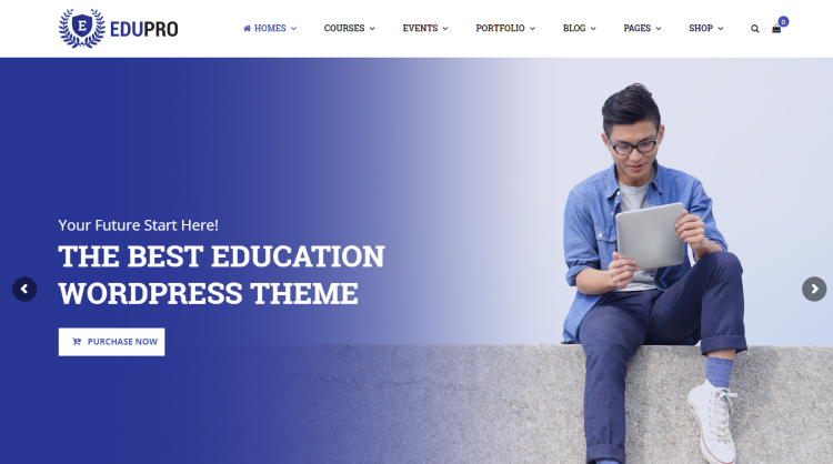 EduPro professional WordPress Education Theme