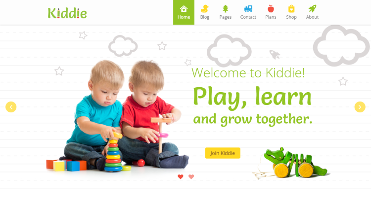 Kiddie kindergarten preschool WordPress Theme