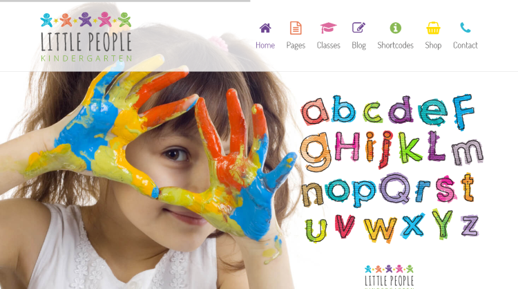 Little People Kindergarten WordPress Theme
