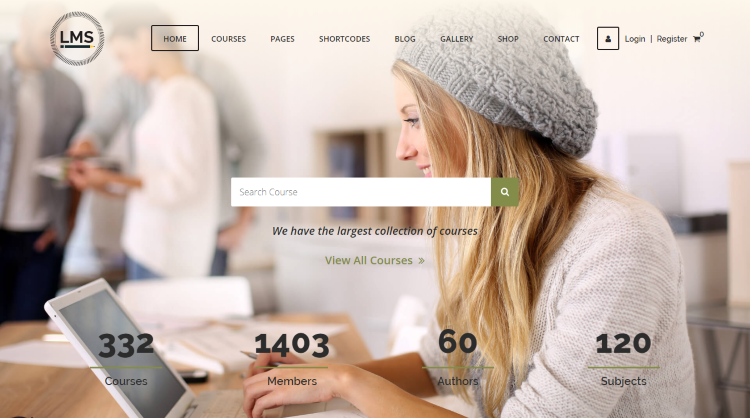 LMS Learning Management System Education WordPress Theme