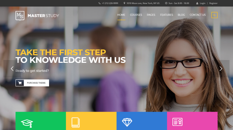 Masterstudy education center WordPress Theme