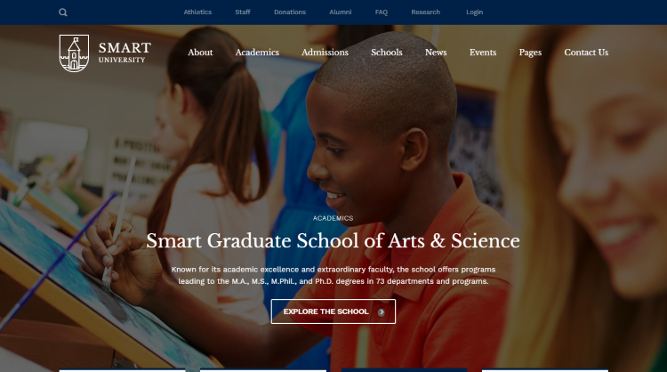 Smarty kindergarten school university college education WordPress Theme